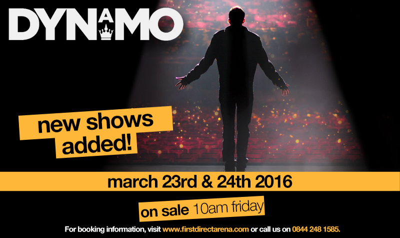 Buy tickets for Dynamo new 2016 dates